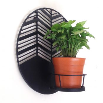 Amalfi Waves wall planter with Terracotta pot