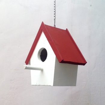 Birdhouse - Red & White