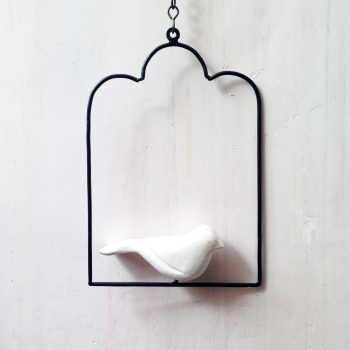 Hanging birds accessory - arch white